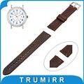 20mm 22mm correa de reloj de cuero genuino correa de liberación rápida + barra de resorte para timex expedition weekender mujeres de los hombres pulsera de la correa