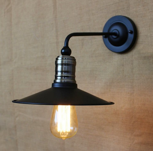 ФОТО Loft Style Decorative Edison Wall Sconce Iron Light Fixtures Industrial Vintage Bedside Wall Lamp For Home Lighting