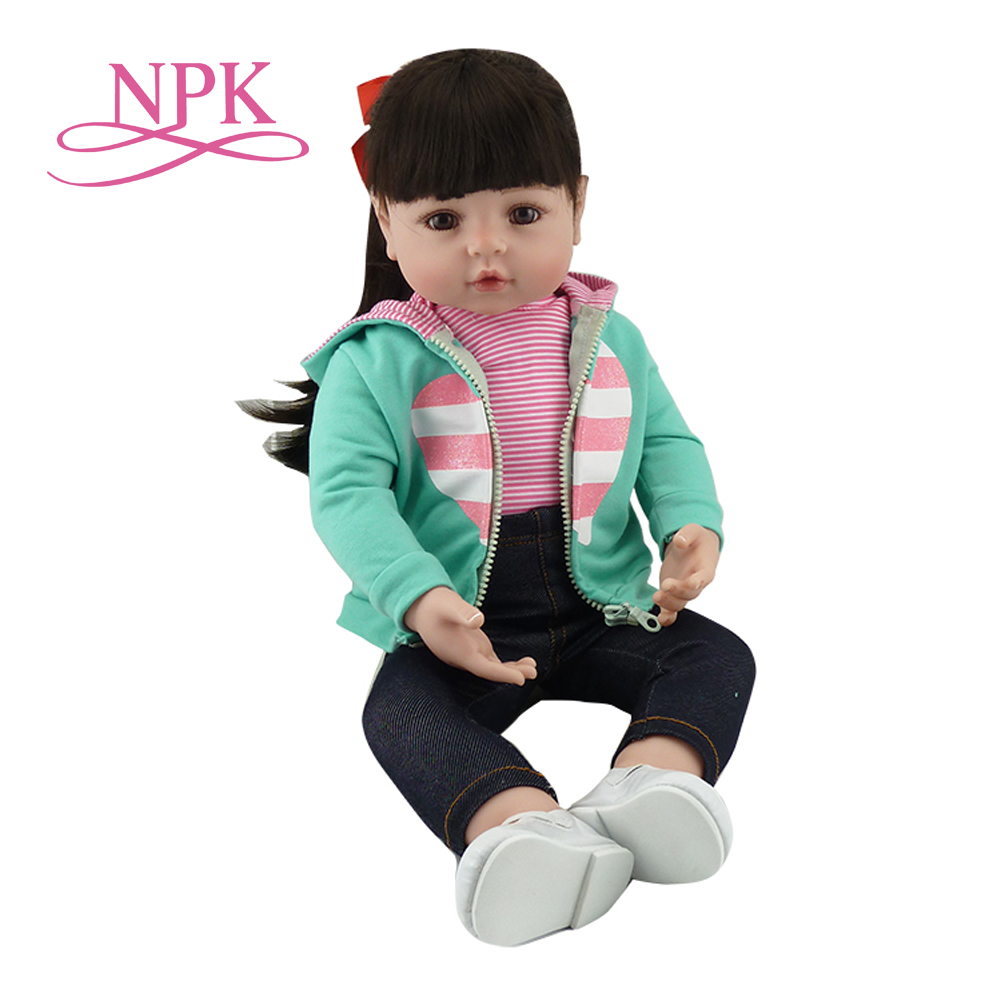 23 Lifelike Reborn Doll For Girl Toy Full Silicone Baby Dolls 57cm Vinyl Ethnic Reborn Menina