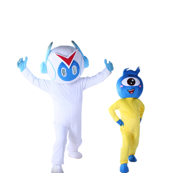 Cartoon Character Robot Mascot Costume Halloween Party Fancy Cosplay Dress Advertising Stage Performance Clothings Adult Size