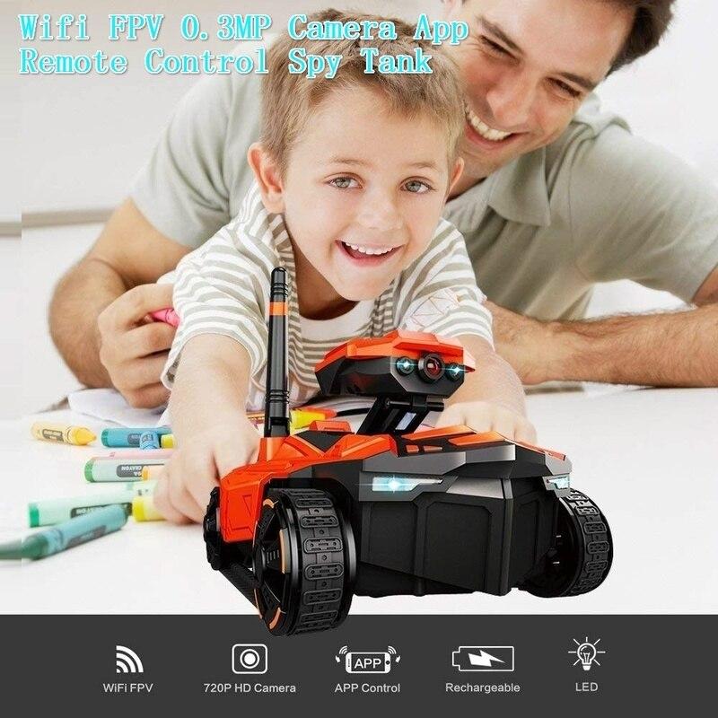 Télécommande réservoir RC YD-211 Wifi FPV 0.3MP caméra App contrôle intelligent réservoir RC jouet pour enfants anniversaire noël cadeau