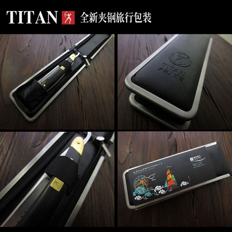 free shipping Titan wood handle  straight razor steel blade sharp already