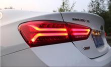 한 세트 자동차 테일 라이트 미등 용 말리부 XL 2012 ~ 2015/2016 ~ 2018 LED 말리부 테일 라이트 리어 램프 DRL + 브레이크 + 파크 + 터닝 램프