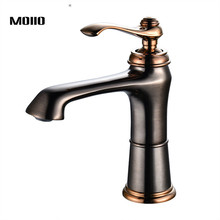 Bathroom Deck Mounted ORB Single handle Basin Hot cold water mixer tap