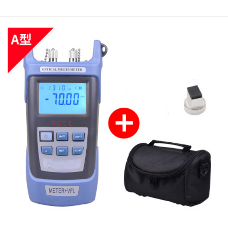 Handheld fiber Optical Power Meter with 10MW Visual Fault Locator fiber optical red light source pen in one machineHandheld fiber Optical Power Meter with 10MW Visual Fault Locator fiber optical red light source pen in one machine