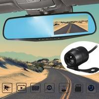 4 Inch Display 1080P HD Dual Lens Car DVR Portable Dash Camera Vehicle Monitor Dash Cam