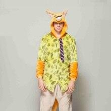 3770ec77ed4d0 Zootopia renard Nick Onesie 2019 fête de noël une pièce Kigurumi  grenouillères pour adultes pyjamas hiver combinaison hommes Pij.