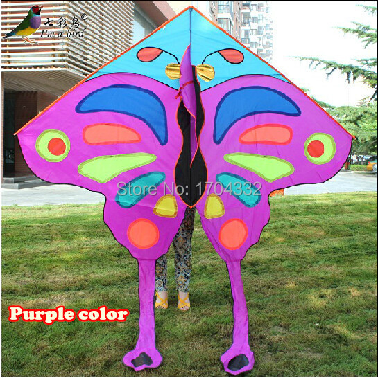 Free Shipping Hot Sell 2015 NEW Listing  Pretty Butterfly Kite  Child Large Kite Flying Toys Nylon Ripstop  With Handle Line