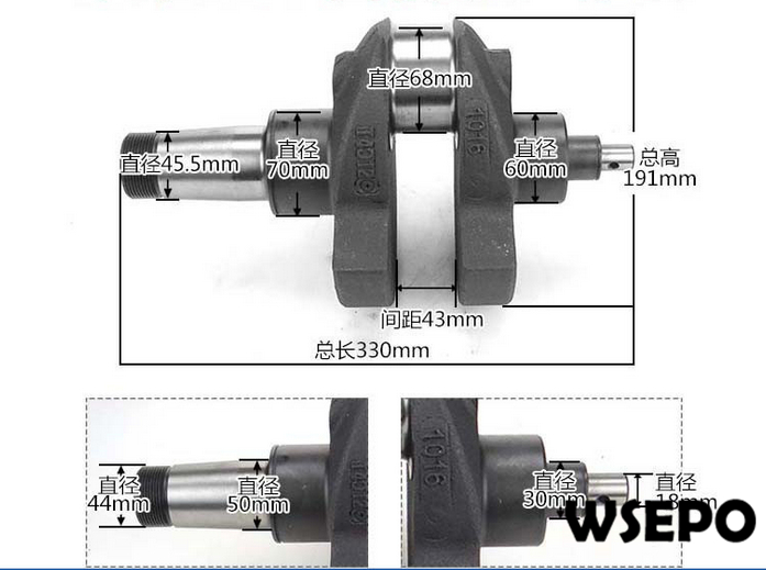 OEM Quality! Crankshaft for L24 4 Stroke Single Cylinder Small Water Cooled Diesel Engine bohemia ivele crystal подвесная люстра bohemia ivele crystal 1413 12 6 360 85 2d ni leafs