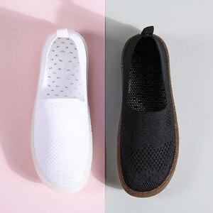 Image 5 - STQ 2020 automne femmes baskets chaussures femmes respirant maille plat baskets chaussures ballerines dames sans lacet mocassins chaussures 3399