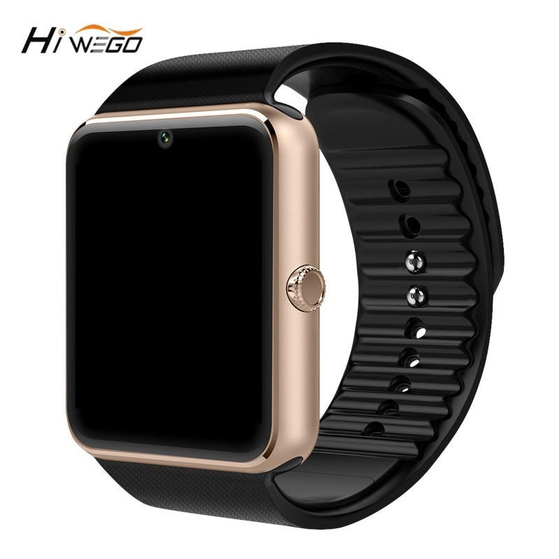 """""""Hiwego Smart Watch"""" GT08 laikrodis su """"SIM"""" kortelių lizdais """"Push Message"""" """"Bluetooth"""" ryšys """"Android"""" telefonas Smartwatch GT08"""