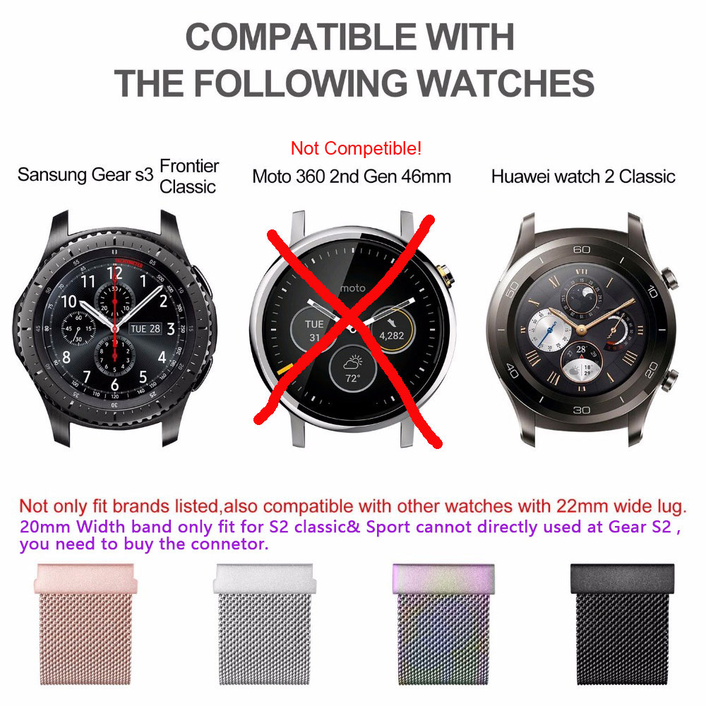 S3-Frontier-Classic-22mm-20mm-Stainless-Steel-Watch-Band-Milanese-Loop-Watch-Strap-Quick-Release-Pins