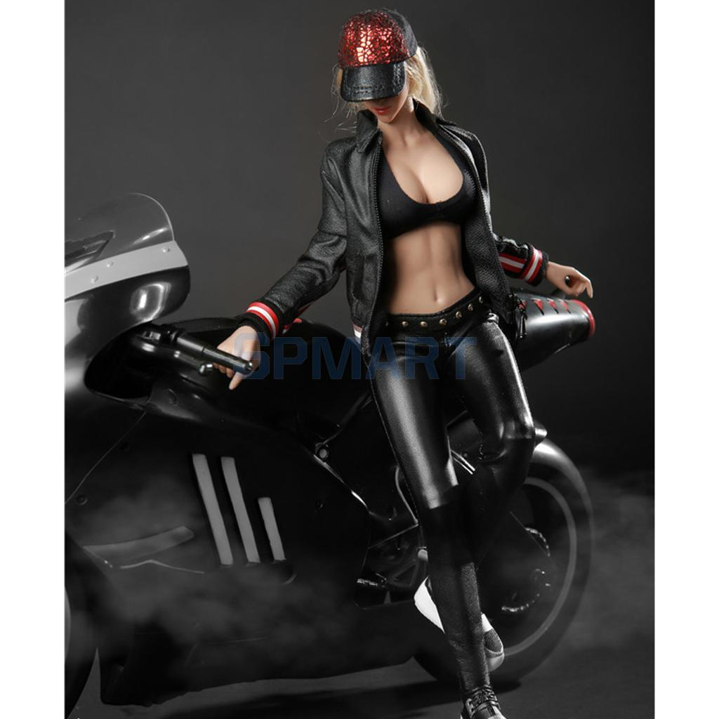 1/6 Scale Female Motorcycle Clothes Racing Suit with Hat Shoes Set Model for 12'' Action Figures Doll Toys DIY Accessories 1 6 military scale action figures doll set super flexible 12action figure doll desert sniper soldier plastic model toys