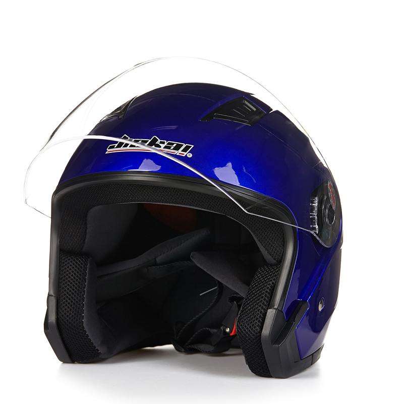 Casco Motocicleta Motorcycle Helmet Open Face Dual Lens Visors Moto Helmet Elec