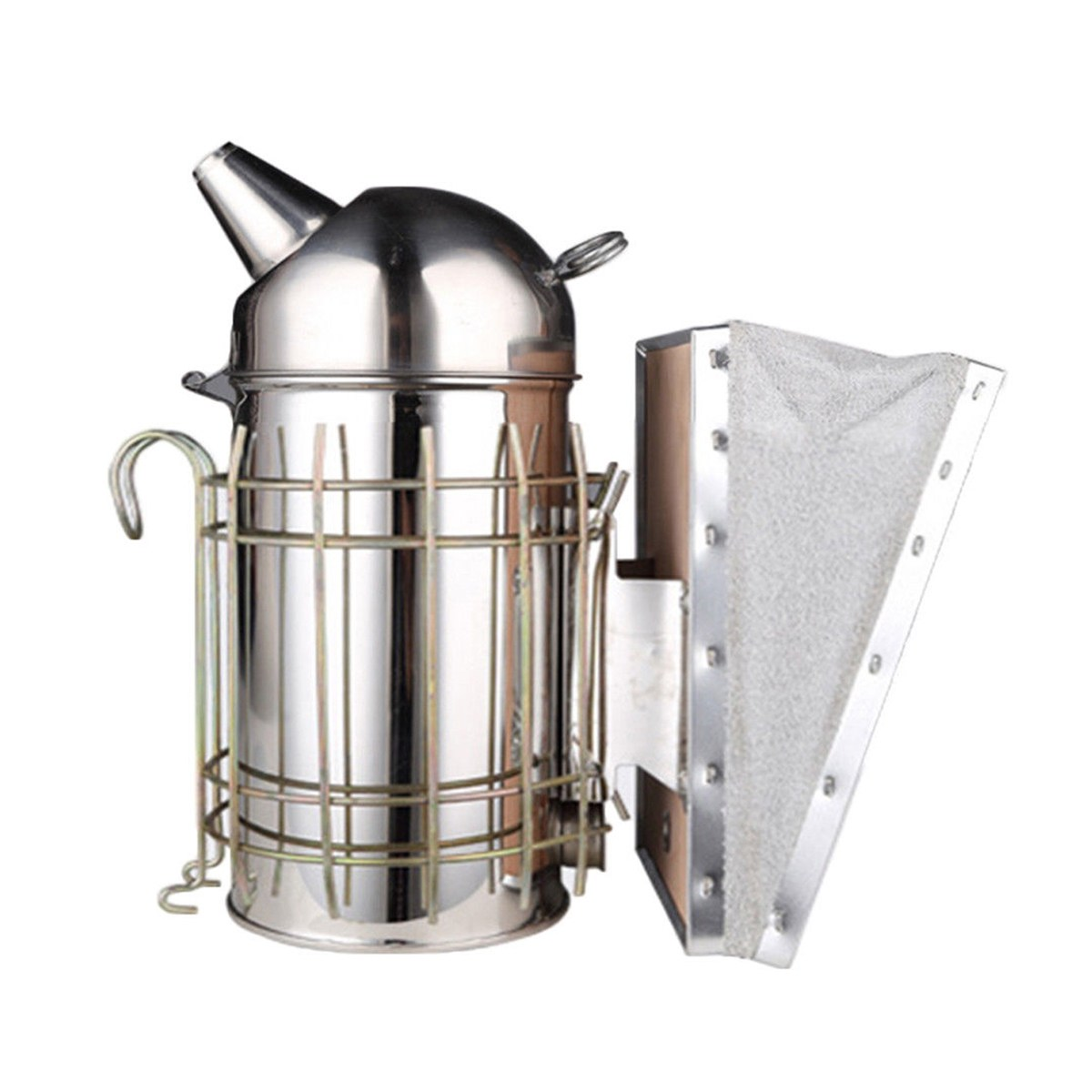 Stainless Steel Bee Hive Box Smoker Large Beekeeping Equipment With Hanging Hook Apiculture Tools Accessories Supplies
