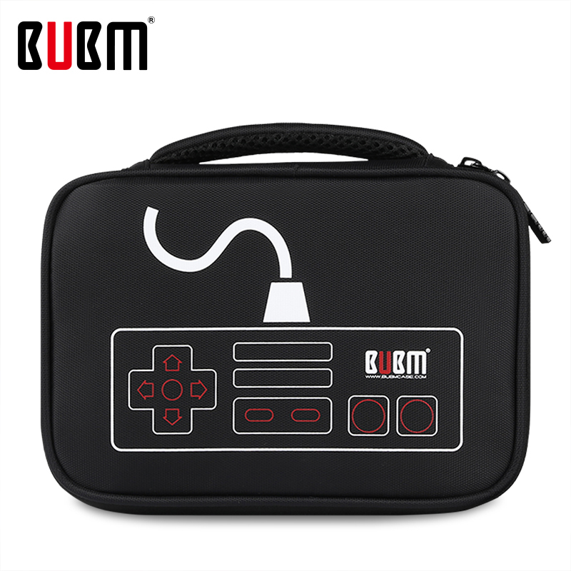 BUBM Bag For NEC Red & White Game Console Bag Storage Organizer Case Holder Adpater Game Console Travel Carry Case Bag
