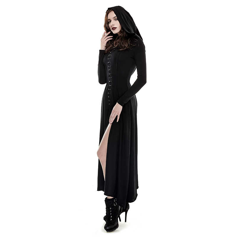 5f28e4afdc4 ... PUNK RAVE Gothic Halloween Sexy Women Vintage Black Party Dress Knitted  Slim Long Sleeve Evening Female ...