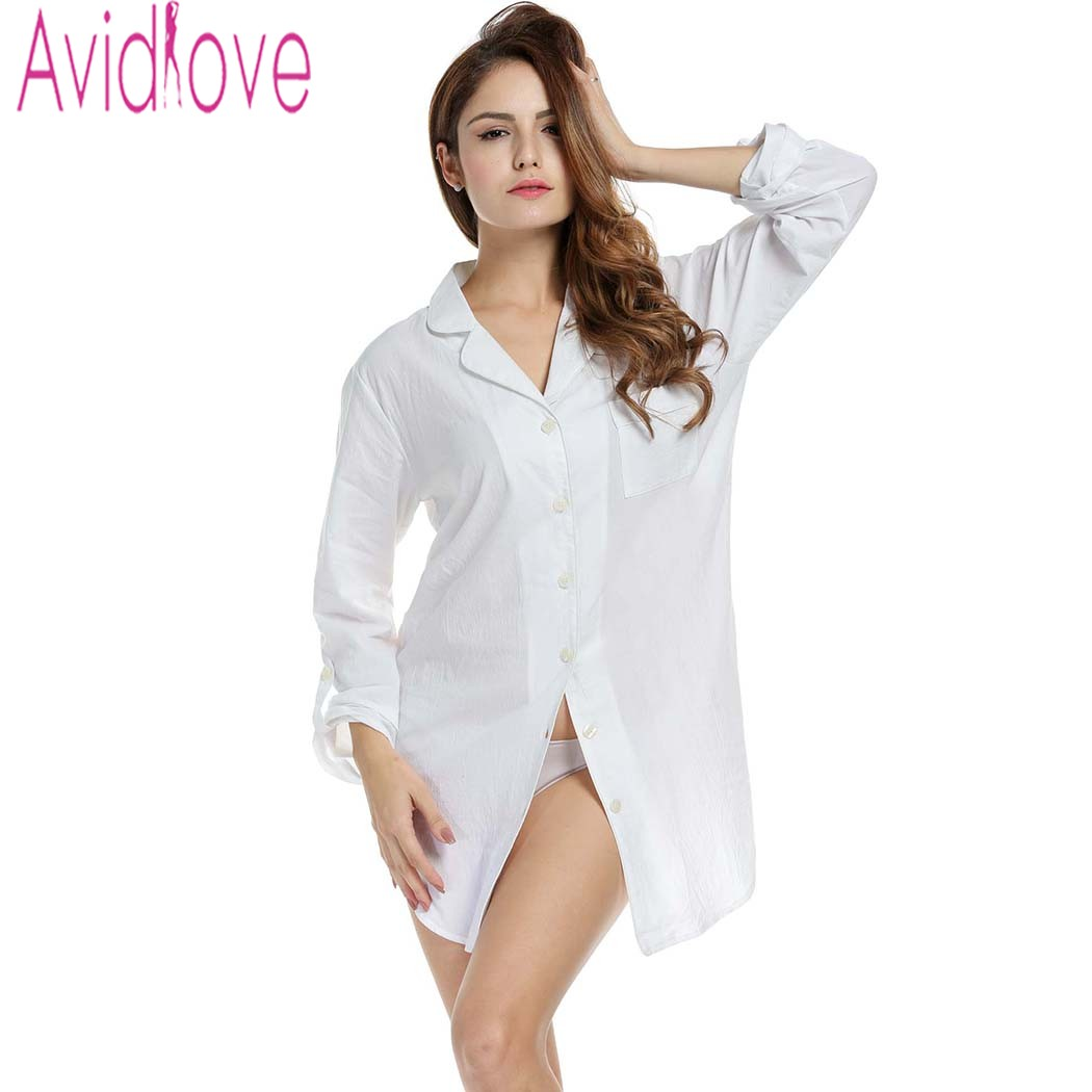 Online buy wholesale long sleeve sleep shirt women from Long cotton sleep shirts