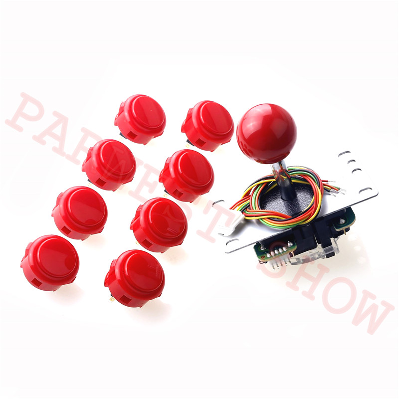 High Quality Sanwa original kit JLF TP 8YT 5Pin Joystick 8pcs OBSF 30 Push Buttons for