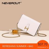 NEVEROUT Women's Leather Bag Summer Mini Messenger Bag Fashion Flap Bags Small Chain Shoulder Sac Cross body Black/White/Brown