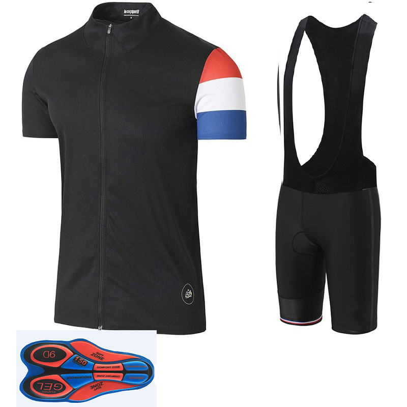 2018 Tour de France Pro Team Red Cycling Jerseys Set MTB clothing Short shirt Ropa Ciclismo Bike Wear Maillot Culotte 9D gel crossrider 2018 cycling pro jerseys set mtb uniform mountain bike clothing bicycle wear clothes men short maillot culotte