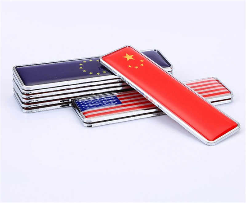 3D Aluminum Alloy Styling  Japan National Flag Emblem Car Sticker Tail Trunk Decals 10.4x3cm