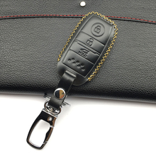 Car Key wallet car 100% genuine leather key cover leather key cases for 2016 Kia Optima K5 Sportage 3 Buttons Protect shell