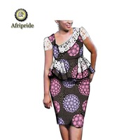 2019 african dresses for women Dashiki AFRIPRIDE Lace Embroidery Design Elastic Party Print Plus size Famous Bazin S1925008