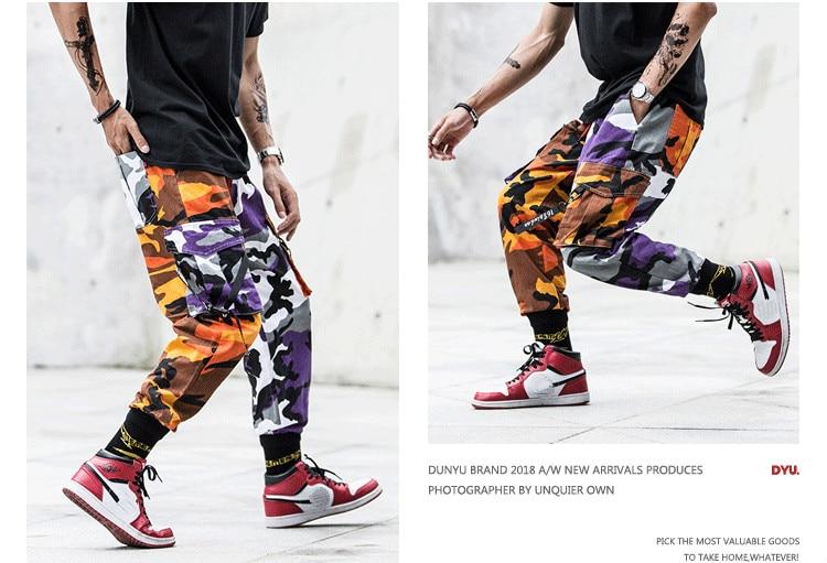 de carga hip hop casual masculino jogger