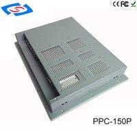 """one pc עלות נמוכה All In One Fanless 15"""" מסך מגע Embedded לוח תעשייתי PC עם רזולוציה 1024x768 עבור Tablet אוטומציה במפעל (4)"""