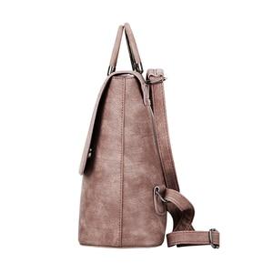 Image 3 - YBYT brand 2019 new PU leather women rucksack Multipurpose satchel female shopping shoulder bags ladies casual travel backpacks