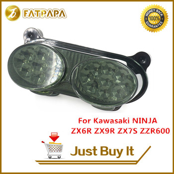 Free shipping Motorcycle Accessories Rear tail light Fit For Kawasaki Ninja ZX6R ZX9R ZR7S ZZR600 Rear Brake Turn Signal Light