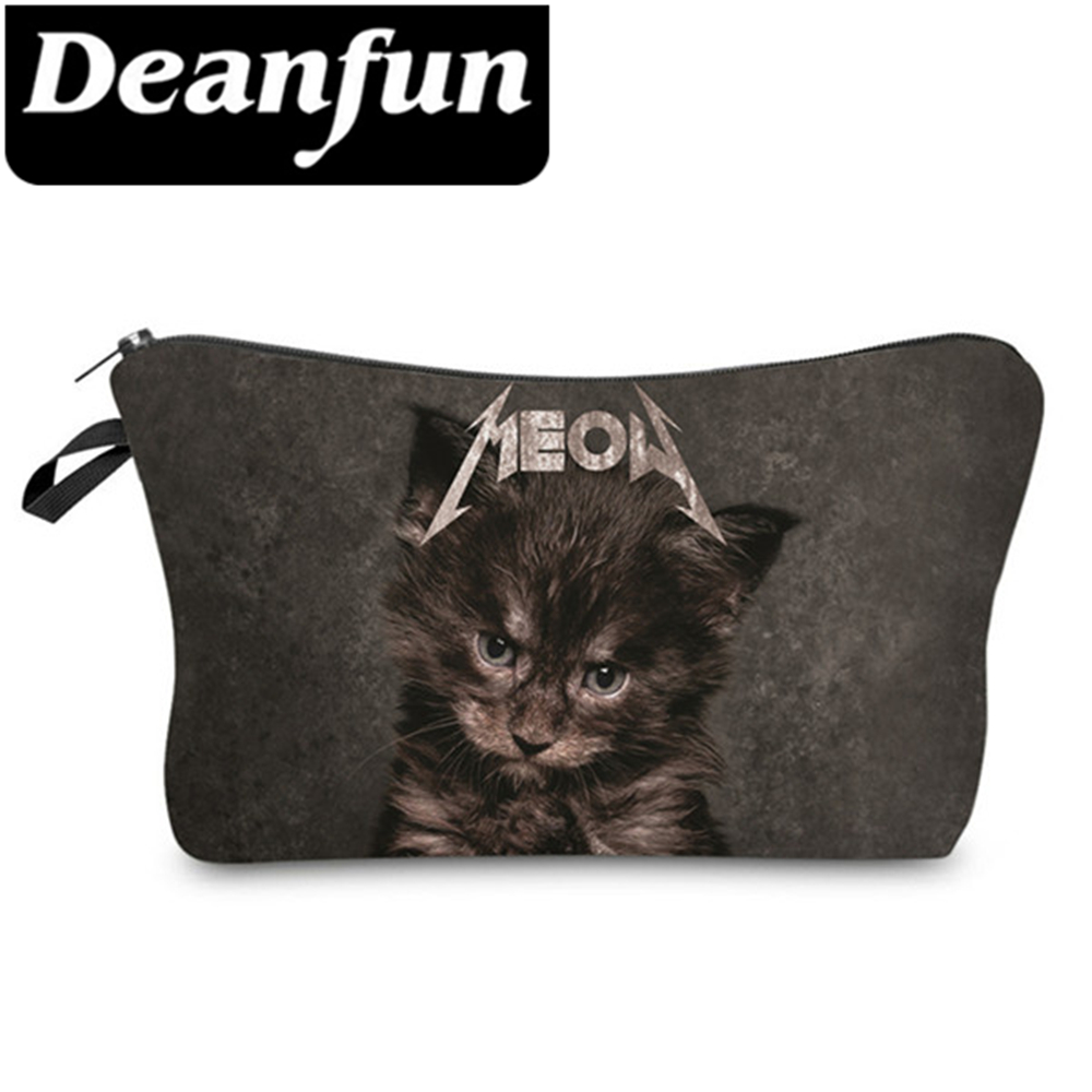 Deanfun Cosmetic Bags 3D Printing Cat Fashion Travel Necessaries Women Makeup Organizer Dropshipping unicorn 3d printing fashion makeup bag maleta de maquiagem cosmetic bag necessaire bags organizer party neceser maquillaje