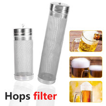 300 Micron Stainless Steel Homebrew Brew BeerHop filter Strainer With Hook Reusable Beer Brewing Bar Accessories 7x18cm /7x29cm