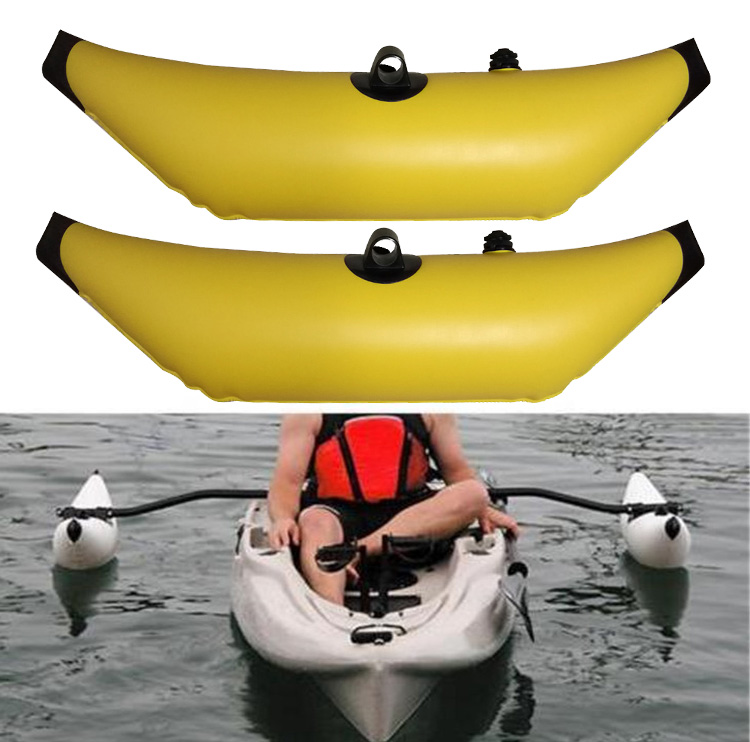 1PCS/2PCS Yellow Inflatable Kayak Canoe Outrigger Stabilizer Water Float Buoy Fishing Boat Standing Stabilizers