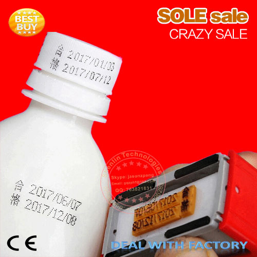 Expiration number printer production date code coding tools manual lot mark printing machine oil pad printer metal wood printing packaging and labeling