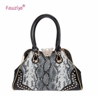 Fawziya Butterfly Snake Pattern Crystal Shoulder Handbags With Lots Of Pockets Tote Bag