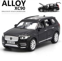 New 1:32 Scale Volvo XC90 Diecast Car Model With Openable Doors Pull Back Function Music Light Kids Toy Gifts Free Shipping(China)