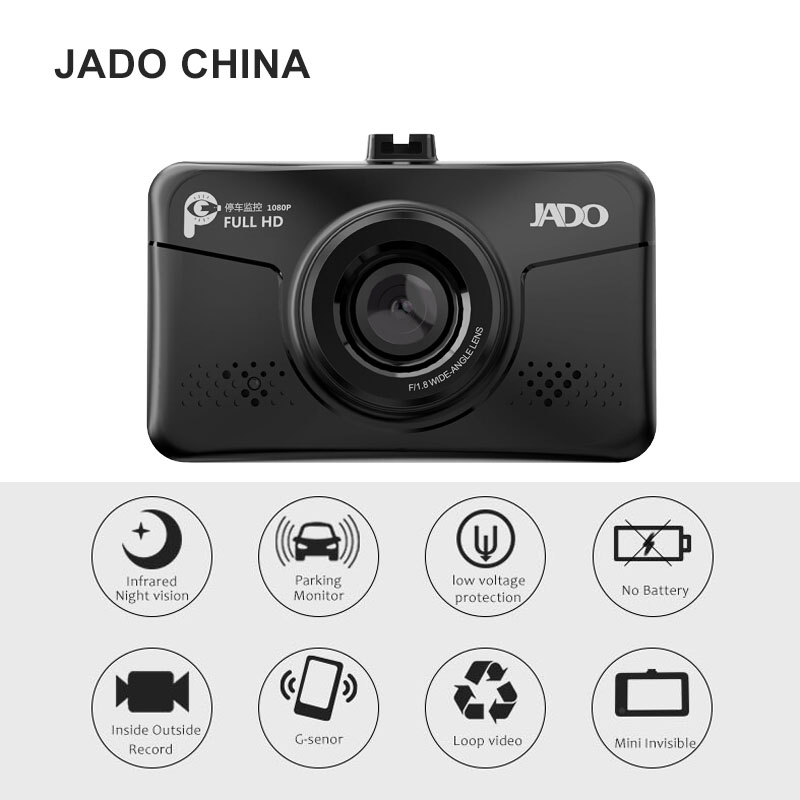 JADO D300 3.0 Car Camera Full HD 1080P  Mini Car Dvr Video Recorder 140 degree Car DVRs Dash cam Car inside infrared monitor car dvr camera auto video full hd 1080p camera dvrs dash cam blackbox dvr for bmw car low spec mini 3 series e46 year 2004 06