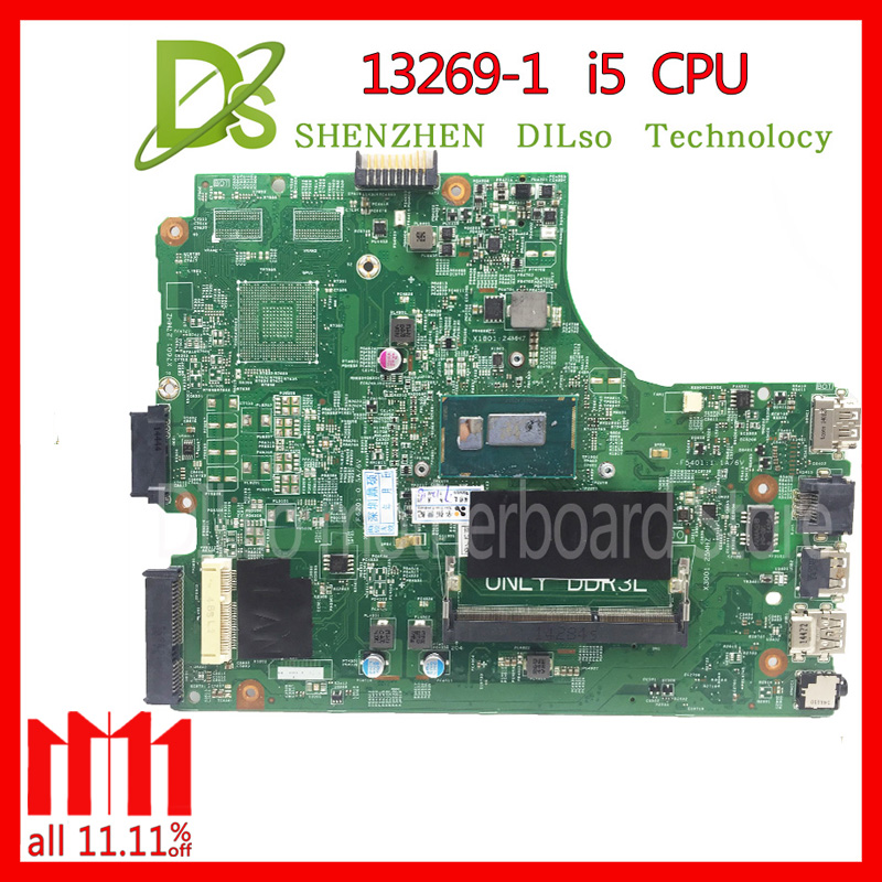 KEFU 13269-1 For DELL 3542 DELL 3442 motherboard 13269-1 PWB FX3MC REV A00 motherboard I5 CPU GM work 100% цена и фото