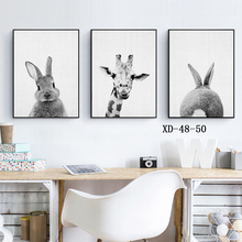 Black and White Baby Animal Rabbit Tail Canvas Art Print and Poster , Nursery Woodlands Bunny Canvas Painting Nordic Wall Decor black white baby animal rabbit tail canvas art print and poster nursery bunny canvas painting for kids room nordic wall decor