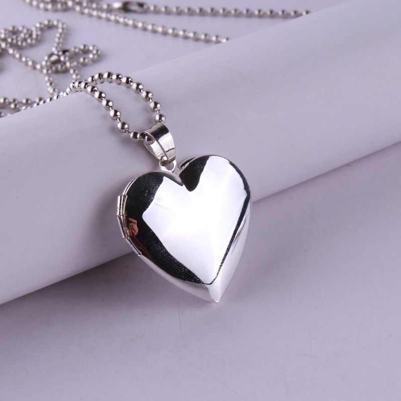 ขายร้อน Valentine Lover ของขวัญกรอบรูปสามารถเปิดสร้อยคอ Locket สร้อยคอจี้หัวใจสร้อยคอเครื่องประดับสำหรับแฟนผู้หญิงของขวัญ