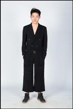 Hot ! 2020 New Men's Fashion Jumpsuit Pants Show Nine Pants Overalls Hairstylist Casual Loose Jumpsuit Singer Stage Costumes