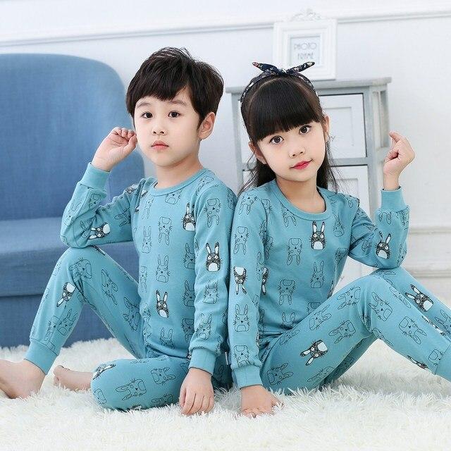 Kids Clothes Big Boys Girls Pajamas Unicorn Pyjamas Kids Sleepwear Cotton Toddler Nightwear Cartoon pijamas enfant Baby pajamas
