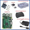 1GB Ras pi 3 Kit Raspberry Pi 3 Model B Board+Acrylic Case+Cooling fan+SIC Heat sink+5V2.5A Power Charger+2.4G keyboard
