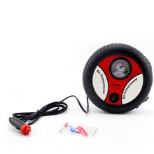 Portable 12V Car Air Compressor Pump Anti-slip Electric Tire Inflator With Nozzle Adapters new 12v portable auto tire inflator tool electric car air compressor with carry bag