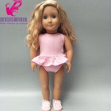 18 inch girl Doll swim clothes for 17 inch Baby Doll summer swim bikini