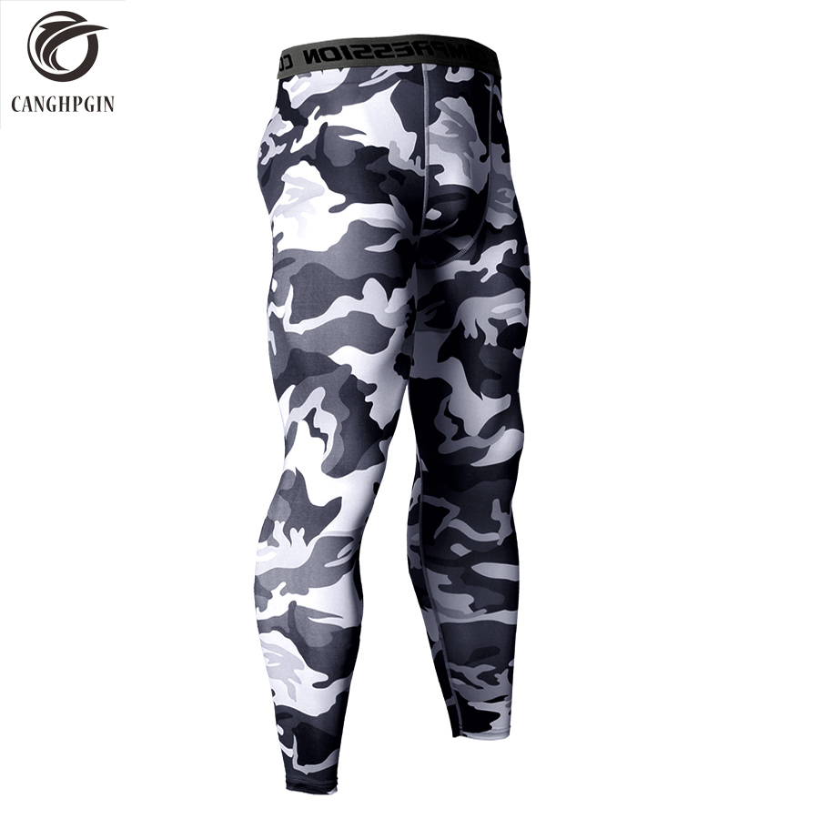 14 Colors Brand Camo Compression Pants Men Sport Wear Jogging Pants Men Sports Leggings Training Pants Gym Man Running Tights 3 piece set men s sports running stretch tights leggings t shirts shorts training pants jogging fitness gym compression suits