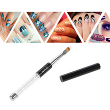 BQAN Nail Art Brush Nail Painting Pen Gel Polish Gradient Color Nail Art Brush Rhinestone Crystal Acrylic Nail Drawing Pen Tool