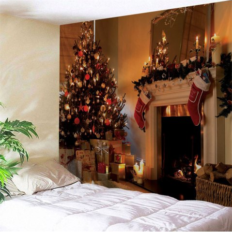 5d Papel Mural Christmas Firplace Wall Decor Silk Wallpaper For Living Room Background 3d Photo Mural Wall Paper 3d Murals